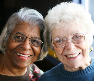Elderly ladies smiling